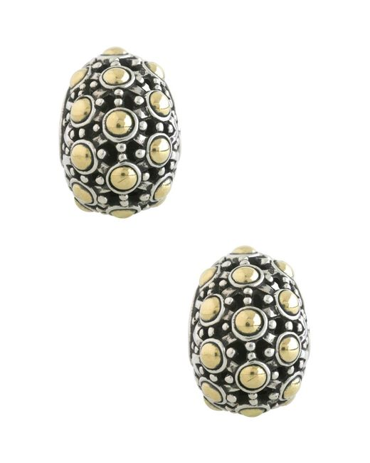 John Hardy - Metallic Jaisalmer 18k Gold & Sterling Silver Buddha Belly Earrings - Lyst