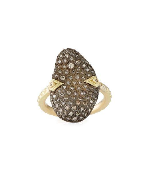 Armenta - Metallic Old World Pave Diamond Oblong Ring - Lyst
