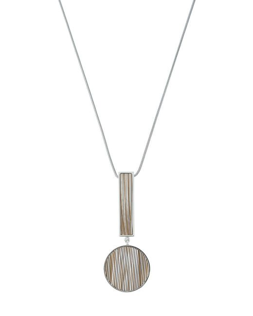 Lafayette 148 New York | Gray Geometric-drop Pendant Necklace | Lyst