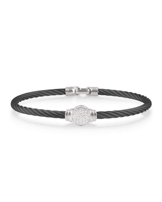 Alor - Round Pave Diamond Cable Bracelet Black - Lyst