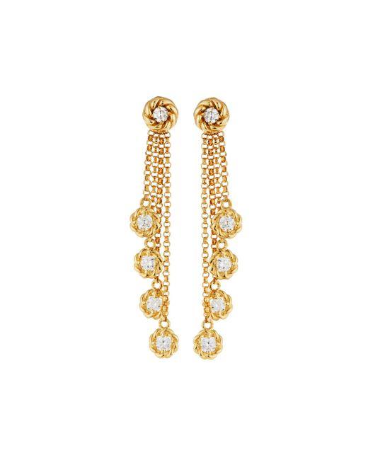 Roberto Coin - Metallic 18k New Barocco Diamond Earrings - Lyst