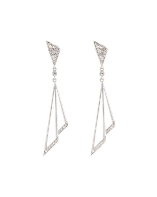 Penny Preville | Firebolt 18k White Gold Dangle Earrings | Lyst