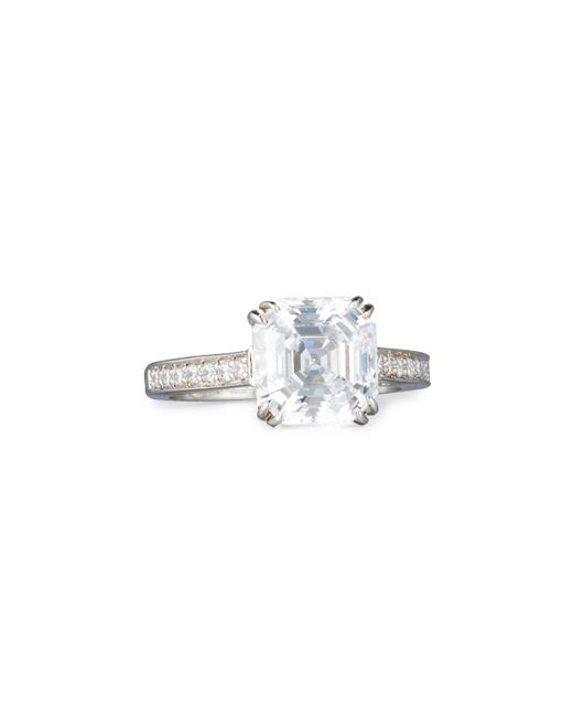 Fantasia by Deserio - Multicolor Asscher-cut Clear Cubic Zirconia Ring - Lyst