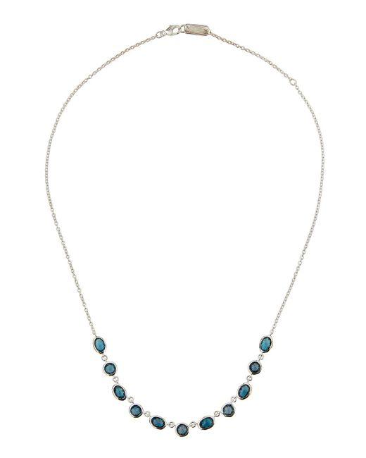 Ippolita | Metallic Silver Rock Candy Multi-shape Stone Necklace In London Blue Topaz | Lyst
