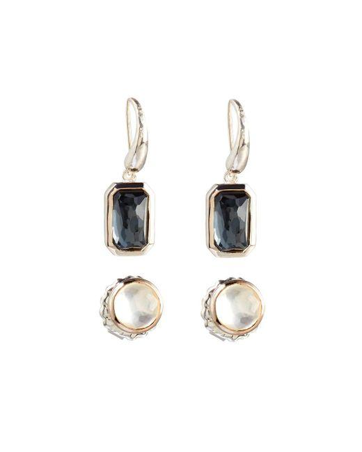Ippolita - Metallic Rock Candy Pyrite Stud & Dangle Earring Set - Lyst