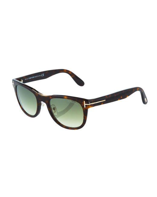 Tom Ford - Multicolor Plastic Square Havana Sunglasses - Lyst