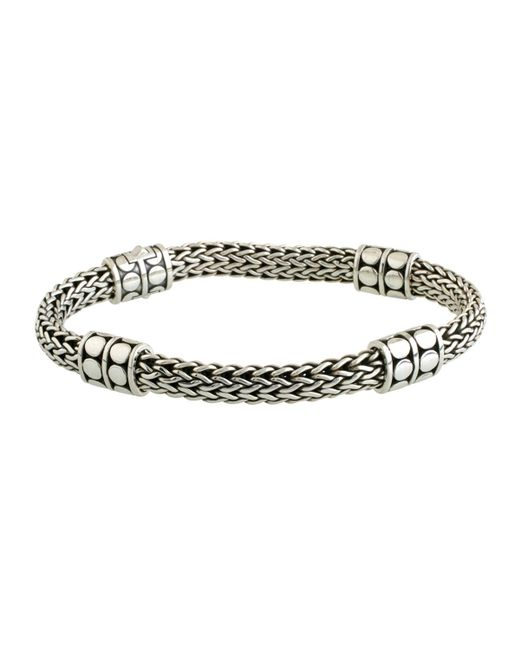 John Hardy - Metallic Dot Four-station Medium Silver Bracelet - Lyst