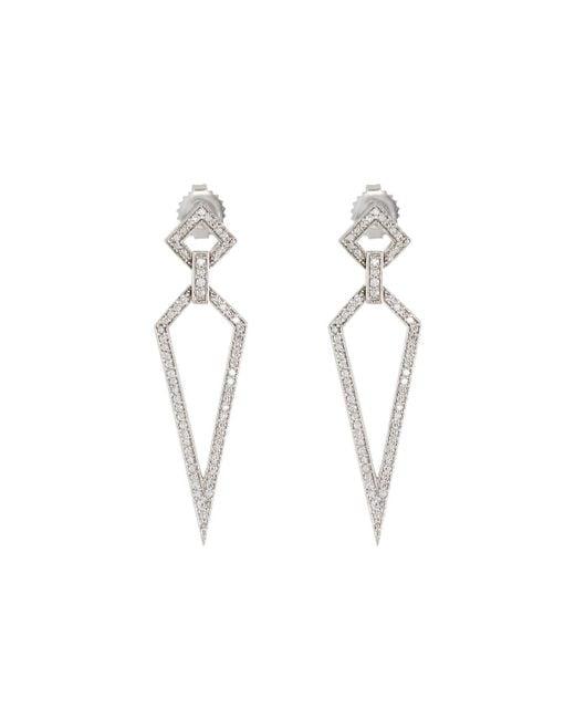 Penny Preville | 18k White Gold Diamond Stiletto Drop Earrings | Lyst