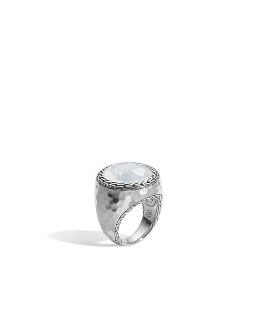 John Hardy | Metallic Batu Palu Silver Ring With Moon Quartz | Lyst