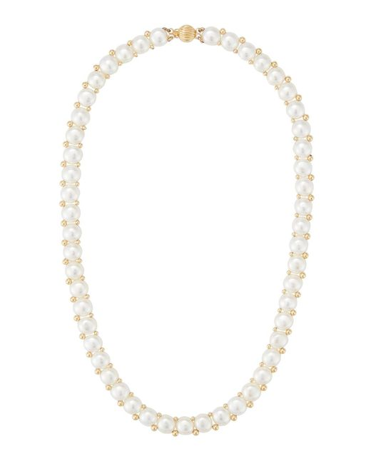 Belpearl | 14k Beaded White Freshwater Pearl Necklace | Lyst