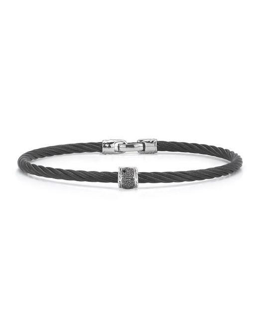 Alor - Black Stainless Steel & Diamond Cable Bracelet - Lyst