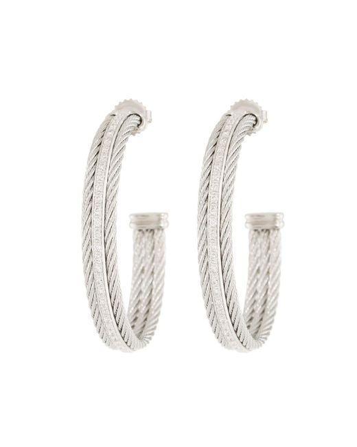 Alor - Metallic Classique Hoop Earrings W/ Diamond Center - Lyst