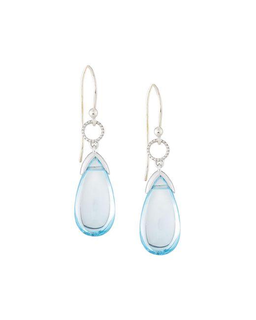 Jude Frances   Lisse 18k Sky Blue Topaz Briolette Dangle & Drop Earrings   Lyst
