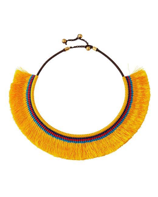 Panacea - Yellow Fringe Collar Necklace - Lyst