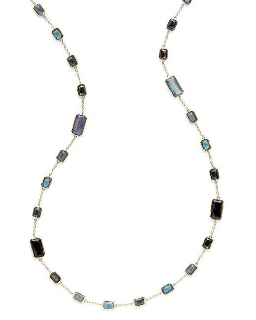 Ippolita - Blue 18k Rock Candy® Station Necklace In Midnight Rain - Lyst
