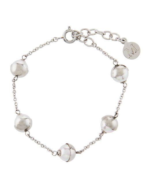Majorica - Tea Cup 7mm White Pearl Bracelet - Lyst