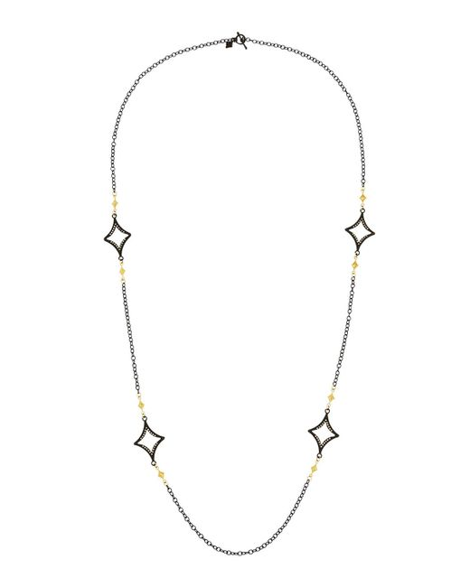 Armenta - Metallic Long Open Cravelli Station Necklace - Lyst