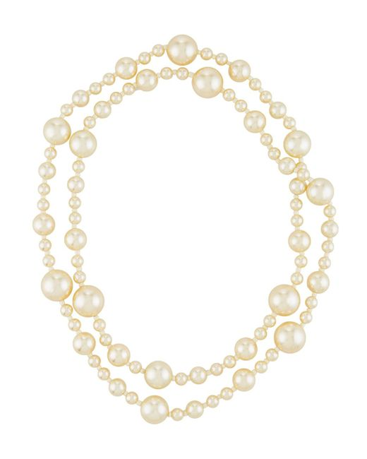 Kenneth Jay Lane | White Long Simulated Pearl Necklace | Lyst
