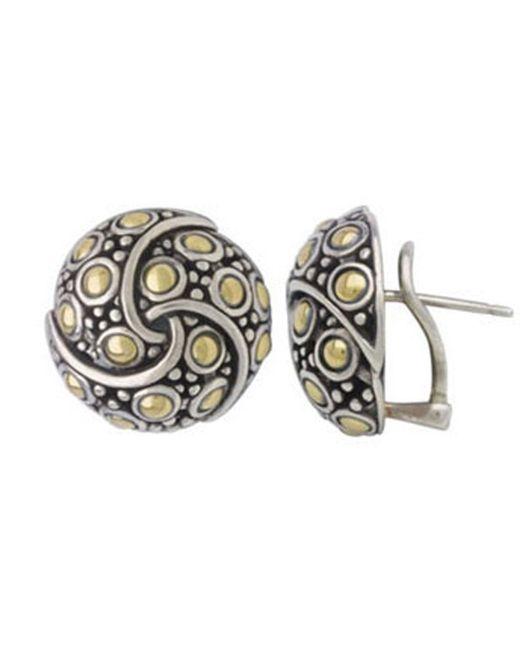 John Hardy - Metallic Jaisalmer Round Twirl Earrings - Lyst