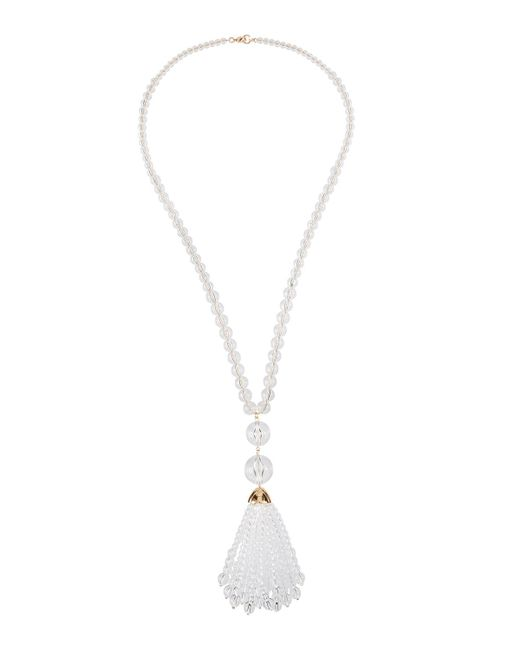 Lydell NYC - Multicolor Crystal Tassel Pendant Necklace - Lyst