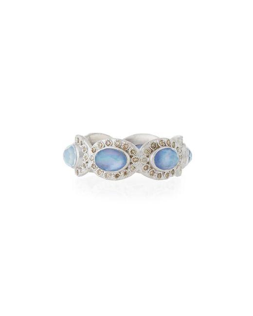 Armenta | Blue New World Oval Triplet & Diamond Ring | Lyst