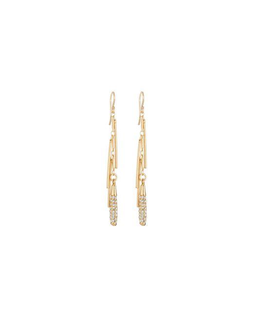 Devon Leigh - Metallic Diamond Illusion Pave Crystal Fringe Dangle Earrings - Lyst