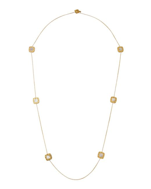 Roberto Coin - Metallic 18k Pois Moi Mother-of-pearl 7-square Necklace - Lyst