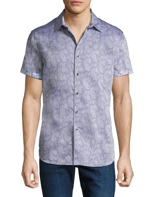Robert Graham - Purple Classic-fit Ballina Short-sleeve Sport Shirt for Men - Lyst