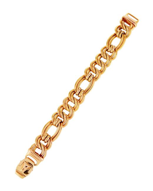 Roberto Coin | Metallic 18k Rose Gold Flat Double-link Bracelet | Lyst