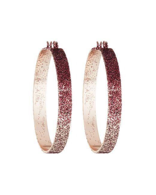 Fragments - Pink Ombre Glitter Hoop Earrings - Lyst