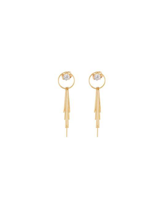 Panacea   Metallic Crystal Circle & Linear Drop Earrings   Lyst