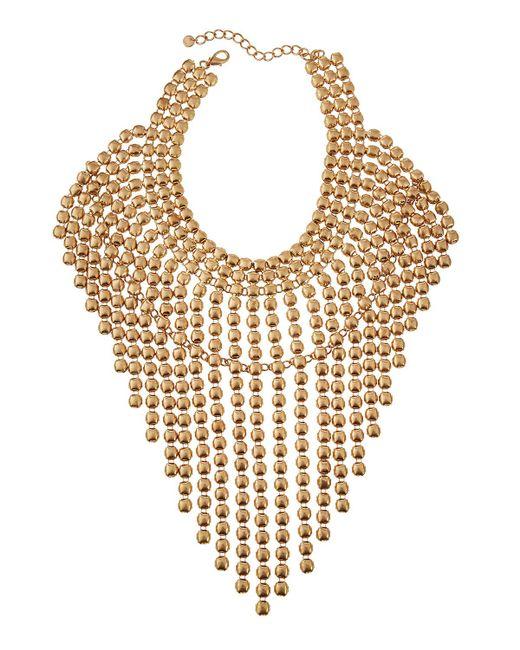 Lydell NYC | Metallic Oversized Statement Bib Necklace | Lyst