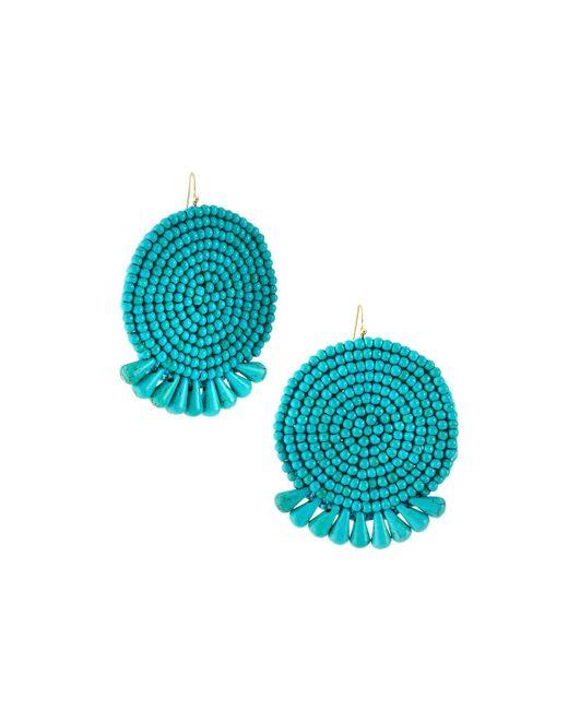 Panacea - Blue Round Beaded Turquoise-hue Earrings - Lyst