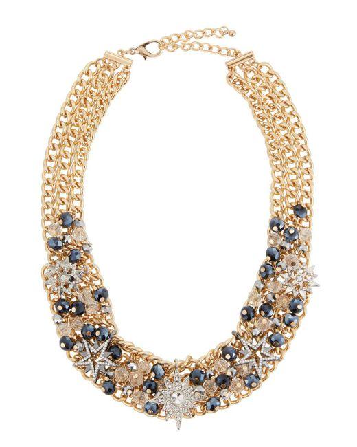 Fragments   Metallic Crystal Star Statement Necklace   Lyst