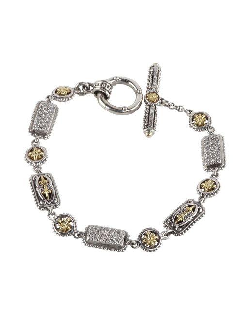 Konstantino - Metallic Asteri Pave White Diamond Link Bracelet - Lyst