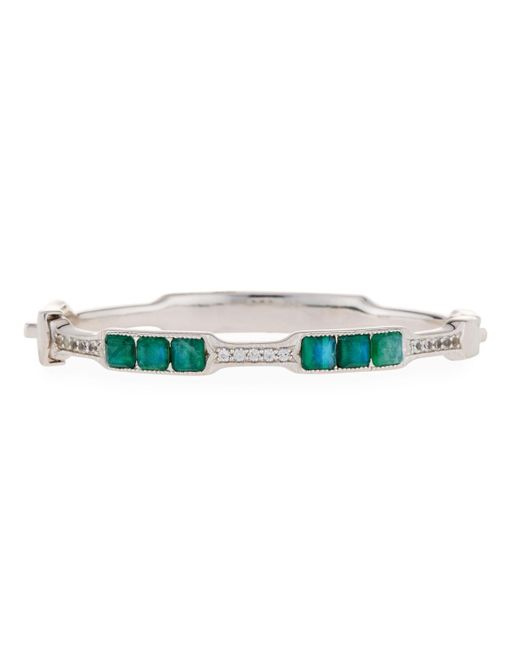 Jude Frances - Green Moroccan Cushion Doublet Bangle - Lyst