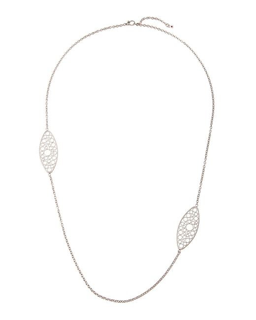 Roberto Coin - Bollicine 18k White Gold Long 2-station Necklace - Lyst
