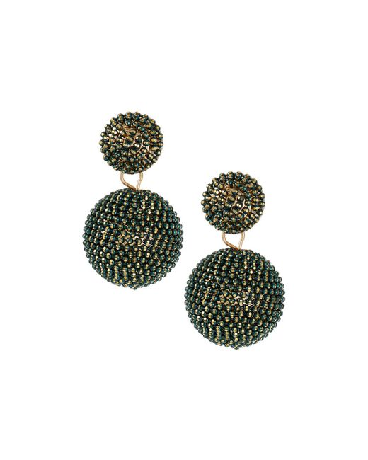 Lydell NYC - Green Seed Bead Drop Earrings - Lyst