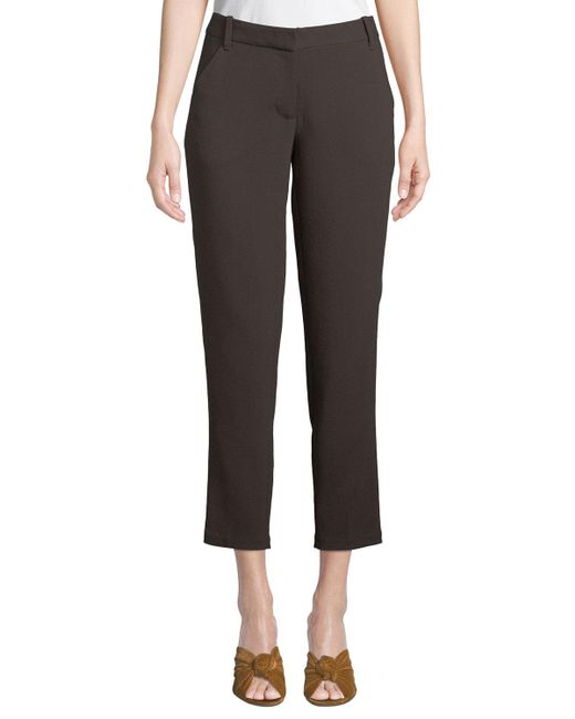 Leon Max - Brown Stretch-crepe Ankle Trousers - Lyst