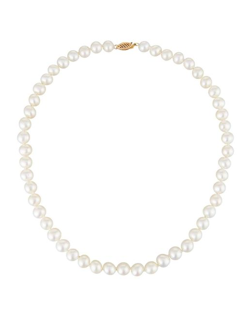 Belpearl - 14k White Freshwater Pearl Necklace - Lyst