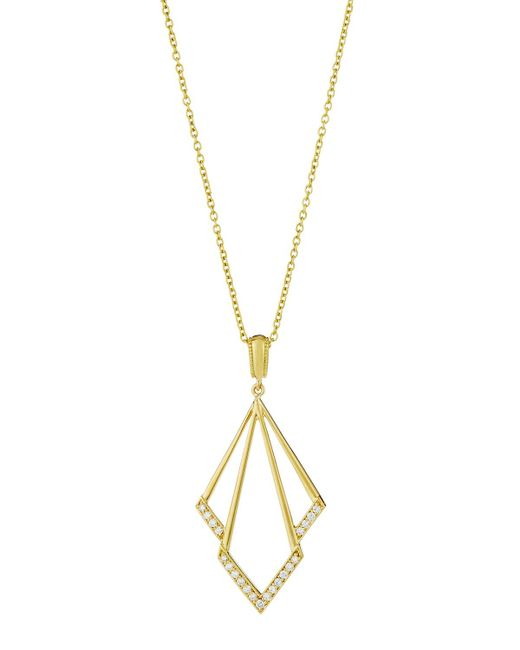 Penny Preville - Metallic Firebolt 18k Diamond Pendant Necklace - Lyst