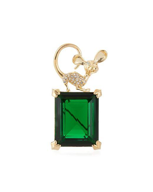 Kenneth Jay Lane - Green Emerald Crystal Animal Pin - Lyst