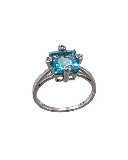 Damiani - Square 2.11 Blue Topaz & Diamond Ring - Lyst
