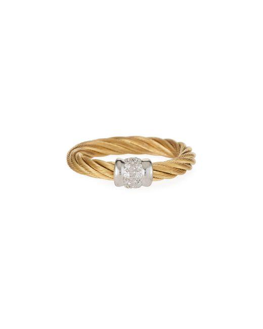 Alor - Metallic Classique Diamond Cable Ring - Lyst