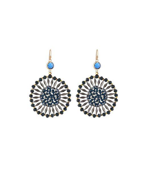 Nakamol - Blue Crystal Starburst Drop Earrings - Lyst