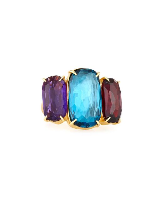 Marco Bicego | Multicolor Murano 18k Large Three-stone Ring | Lyst