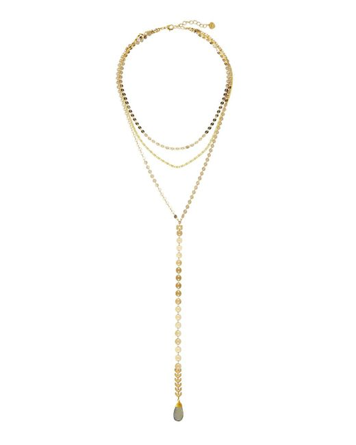Nakamol | Metallic Golden Layered Y-drop Necklace | Lyst