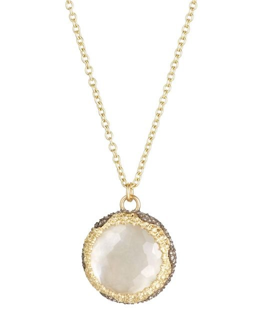 Armenta | Gray Old World Round Chalcedony & Diamond Pendant Necklace | Lyst