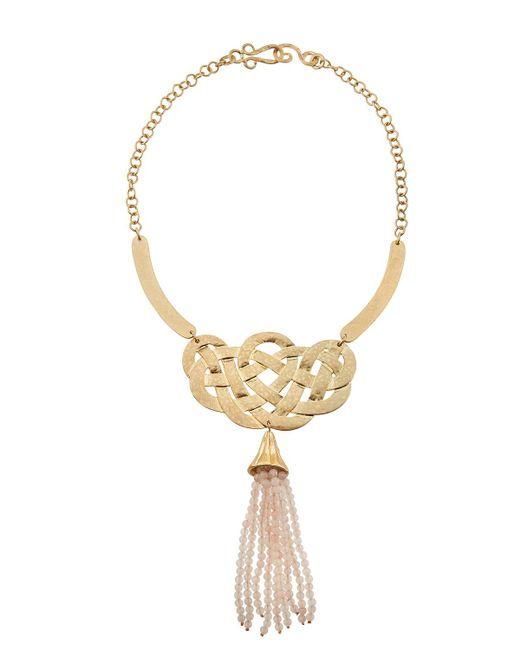 Stephanie Kantis - Pink Alliance Rose Quartz Tassel Necklace - Lyst