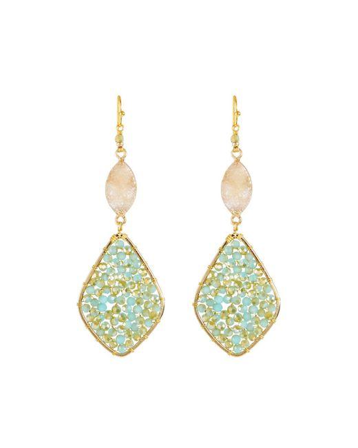Nakamol - Blue Amazonite & Druzy Dangle Earrings - Lyst